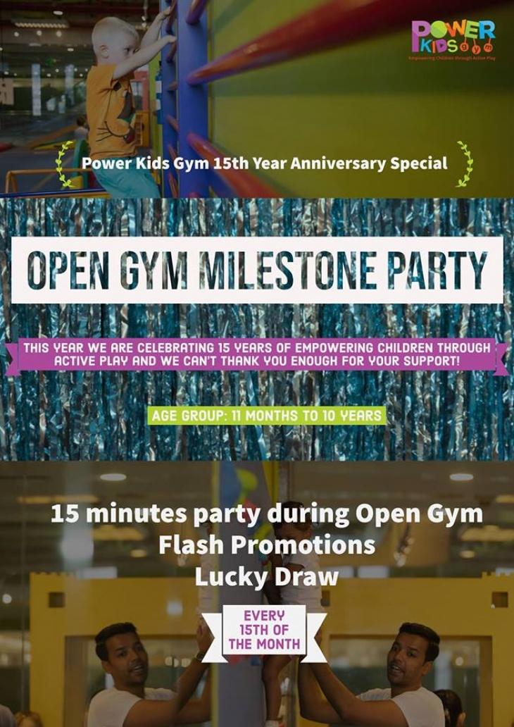 Open Gym Milestone Party