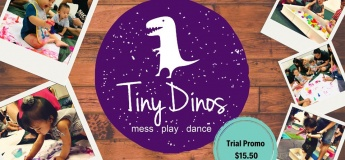 TinyDinos Sensory Playgroup for 6 to 24months!