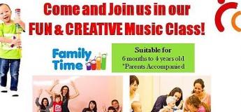 Fun & Creative Music Class @ Our Music Studio