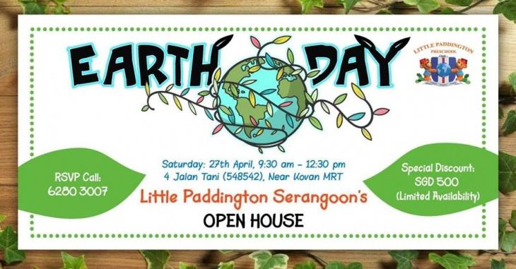 Little Paddington's Earth Day Open House. Savings of S500!