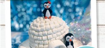 [Kids June Holiday] Penguin Igloo Cake + Card Holder