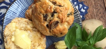 """Farm to Table"" Series: Cheesy Truffled Mushroom Scones (A Hands-on Planting & Culinary Workshop)"