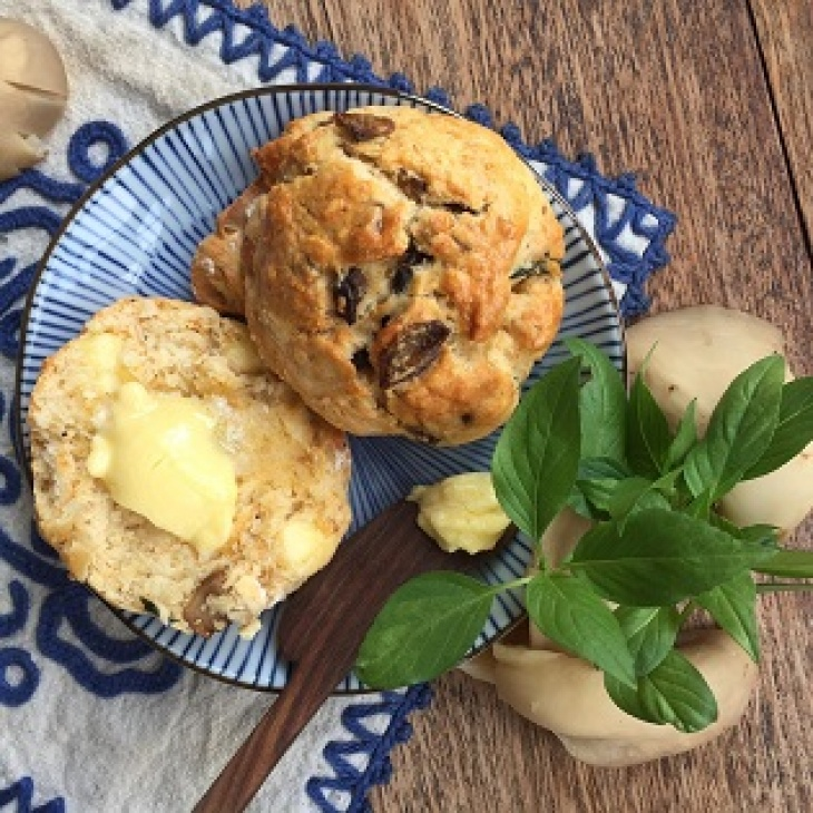 """""""Farm to Table"""" Series: Cheesy Truffled Mushroom Scones (A Hands-on Planting & Culinary Workshop)"""