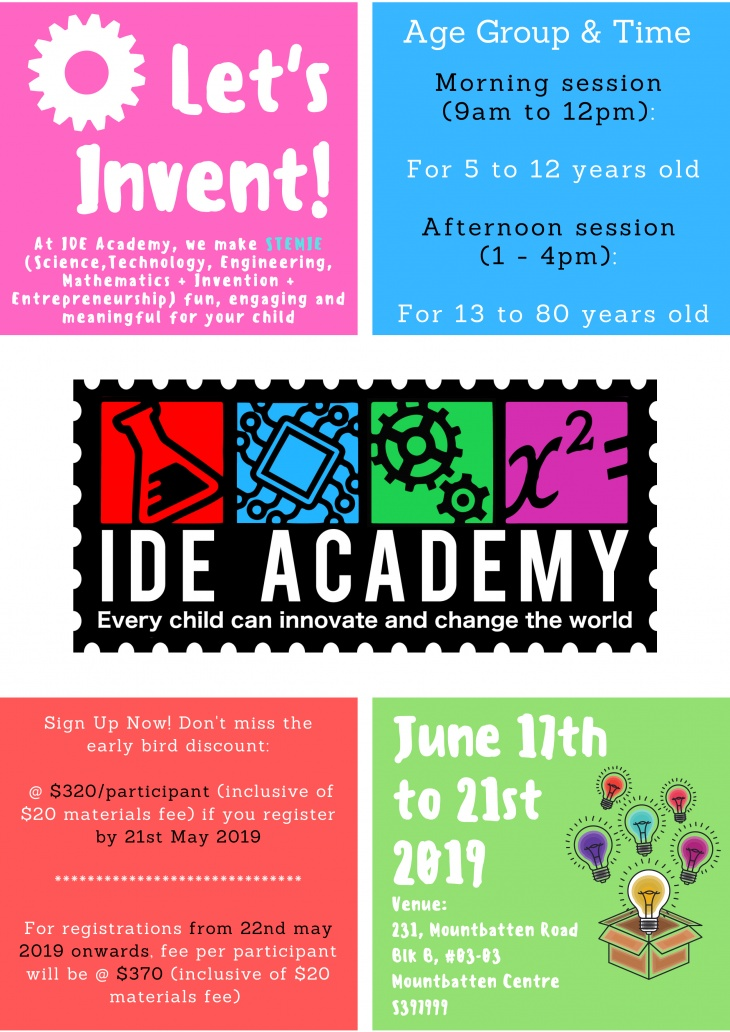 Lets Invent! - An invention education programme for 5 to 80 years old