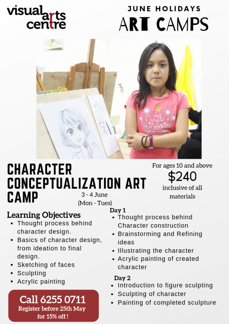 June Holiday Art Camps – Character Conceptualization Art Camp