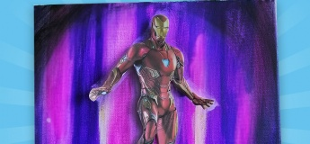 [Art Discovery] Iron Man Canvas Painting