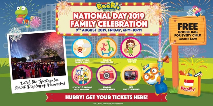 (SOLD OUT) National Day 2019 Celebration @ Pororo Park Singapore!