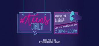 [Teens Takeover] Teens Only Pop-Up @ Serangoon Public Library