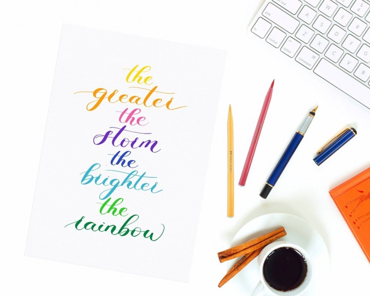 Brush Lettering by Melody of Wild Lavender Studio