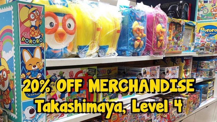 Mega Toy Sale up to 20% OFF at Takashimaya Department Store