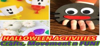 Halloween Activities- Craft, movement, Sensory & FUN!