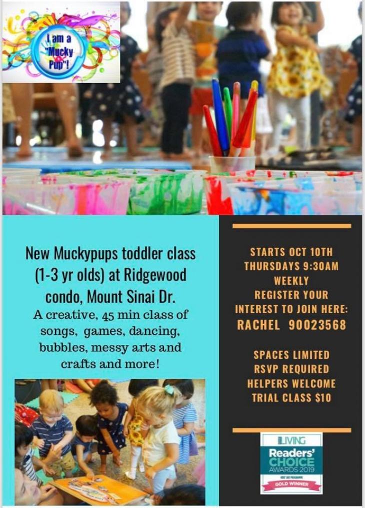 Muckypups toddler class