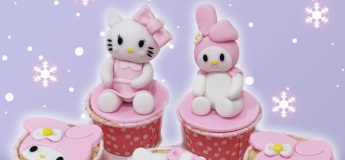 Kitty Xmas Cupcakes