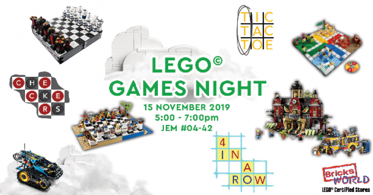 LEGO Certified Stores (Bricks World) Games Night