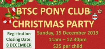 BTSC's Pony Club Christmas Party