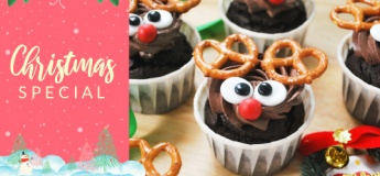 Reindeer Cupcakes & Chocolate Cookies