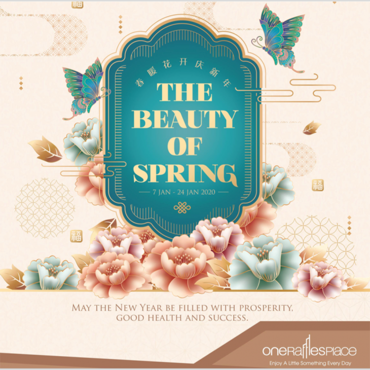 Celebrate the Beauty of Spring this Chinese New Year at One Raffles Place!
