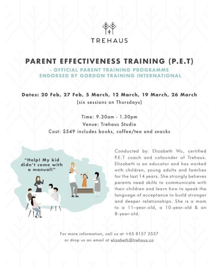 Parent Effectiveness Training Class for Parents (Weekdays)