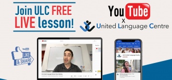 Free YouTube Live Lessons with United Language Centre