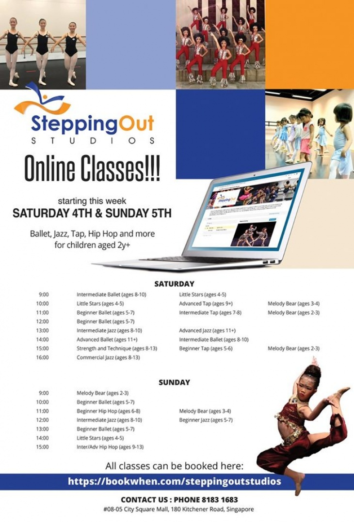 Stepping Out Studios Online Classes