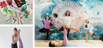 Online Yoga / Art / Meditation for families with Canvass
