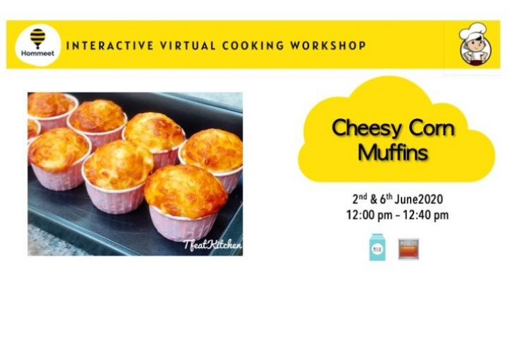 Tiny Cookery - Cheesy Corn Muffins by Qian Yi