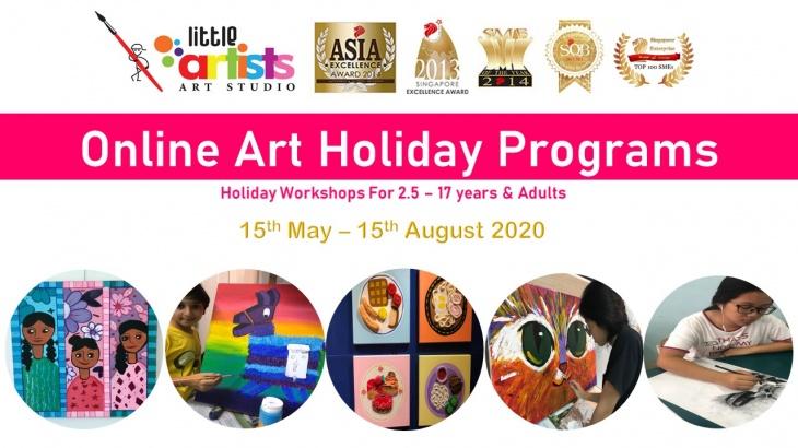Little Artists Online Art Holiday Programs