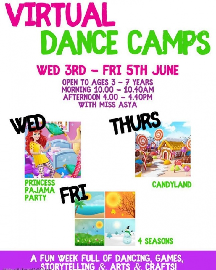 Virtual Dance Camps with Dance At The Difference