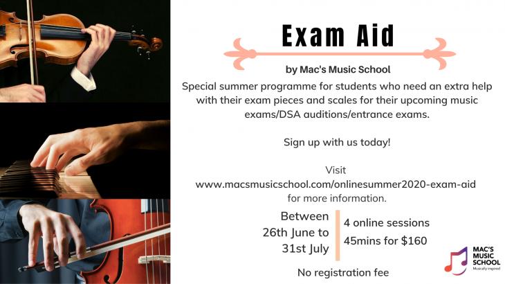 Exam Aid Summer Program by Mac's Music School