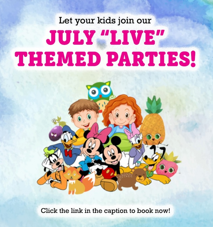 July Live Themed Parties with My Gym