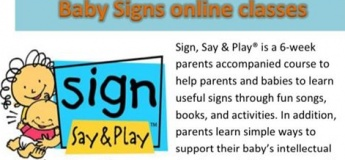 Baby Signs Online Classes August - September