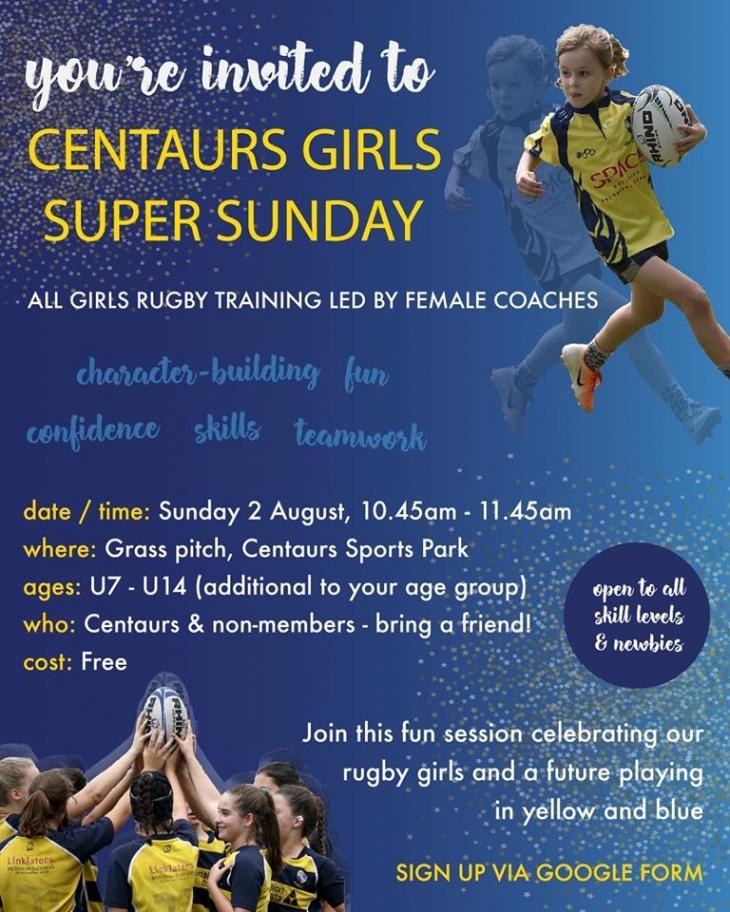 Centaurs Girls Super Sunday