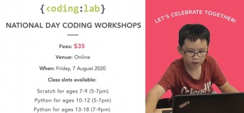 National Day Coding Workshops with Coding Lab Singapore