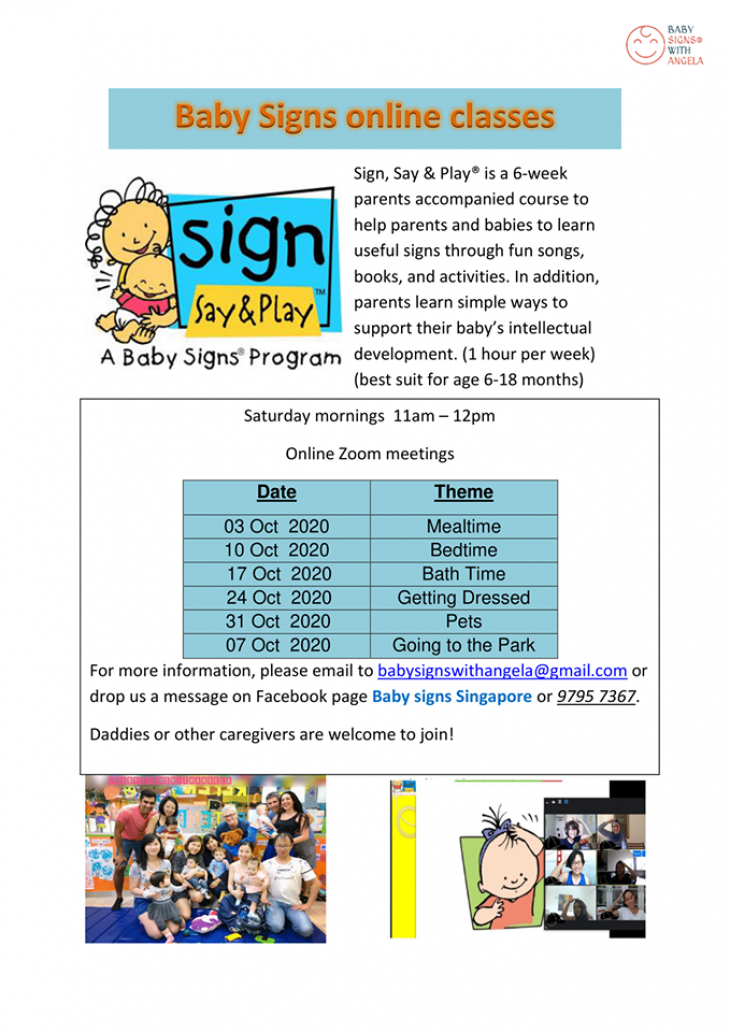 Baby Signs Online Classes October