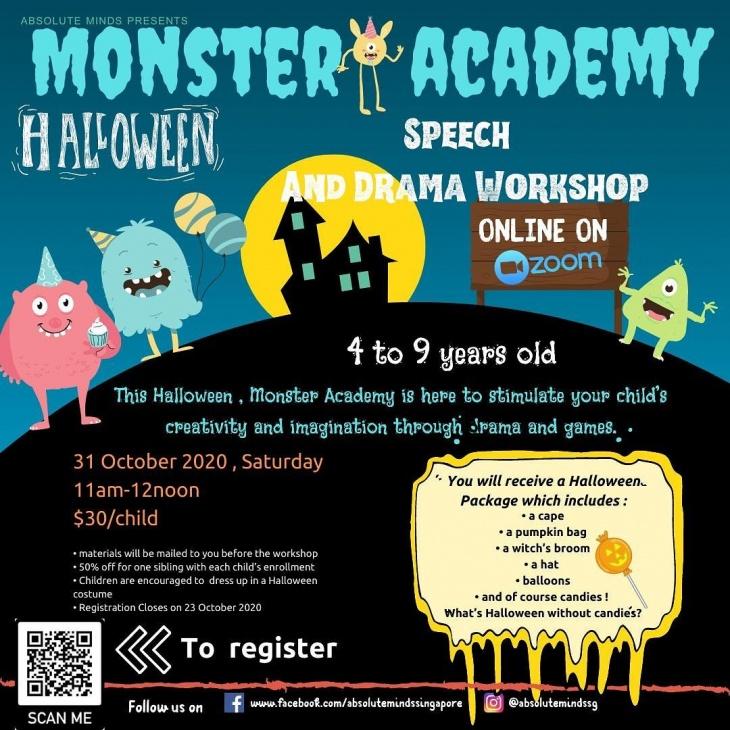 Monster Academy Halloween Speech and Drama Workshop