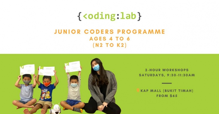 Junior Coders Programme (Ages 4 to 6) @Coding Lab Singapore