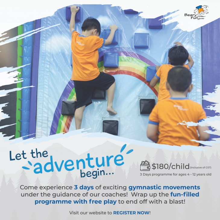 Kids Holiday Programme November/December 2020 @BearyFun Gym
