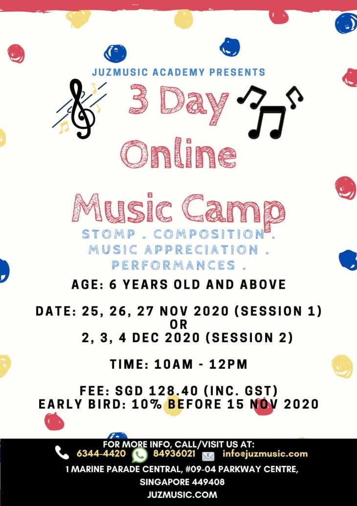 3 Day Online Music Camp 2020 with Juzmusic Academy