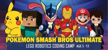 Pokemon Smash Bros Ultimate Lego Robotics STEAM School Holiday Winter Camp November December 2020 for Age 5 to 13