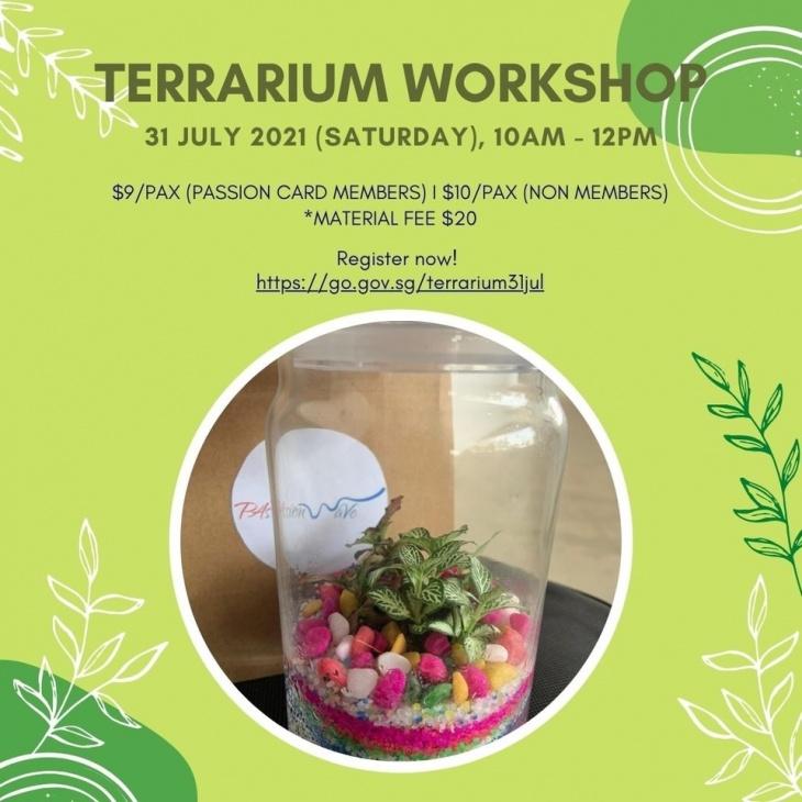 Terrarium Making @PA PAssion WaVe