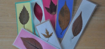 Arts and Crafts with Spices: Pressed Leaf Bookmarks