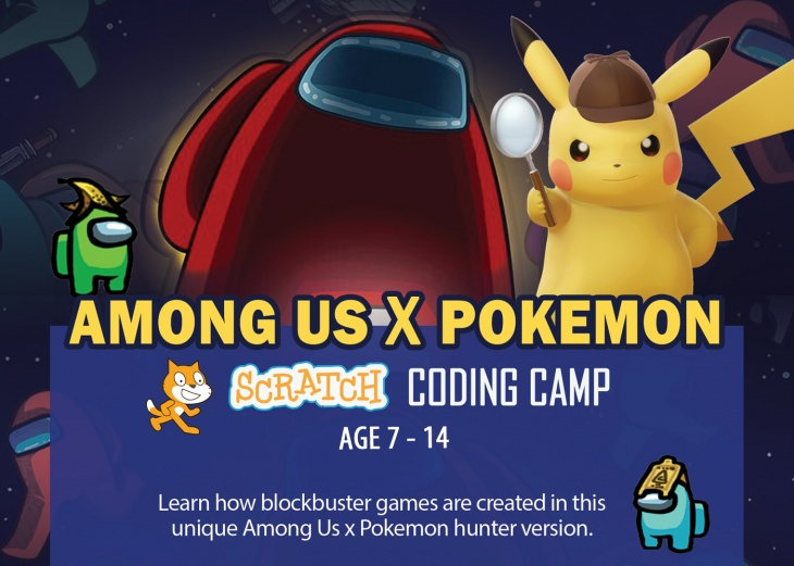 Among Us X Pokemon Scratch Coding School Holiday Camp March to April 2021