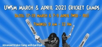 UWSM March & April 2021 Cricket Camps
