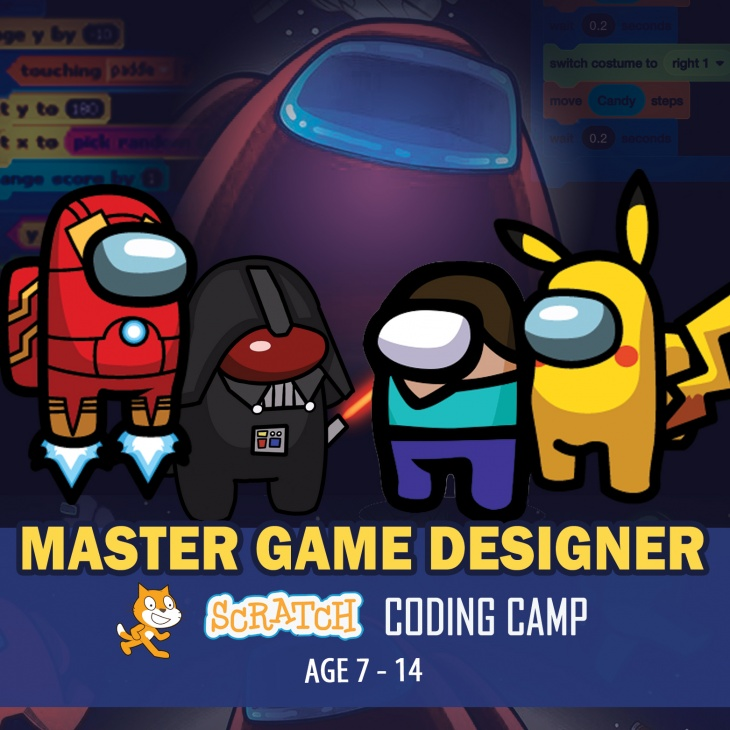 Master Game Designer Scratch Coding School Holiday Summer Camp