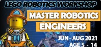 Master Robotics Engineers Lego Robotics Coding STEAM School Holiday Workshop
