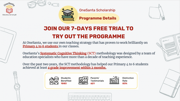 Free English and Mathematics Tuition 7-Days Trial (P4 to P6)