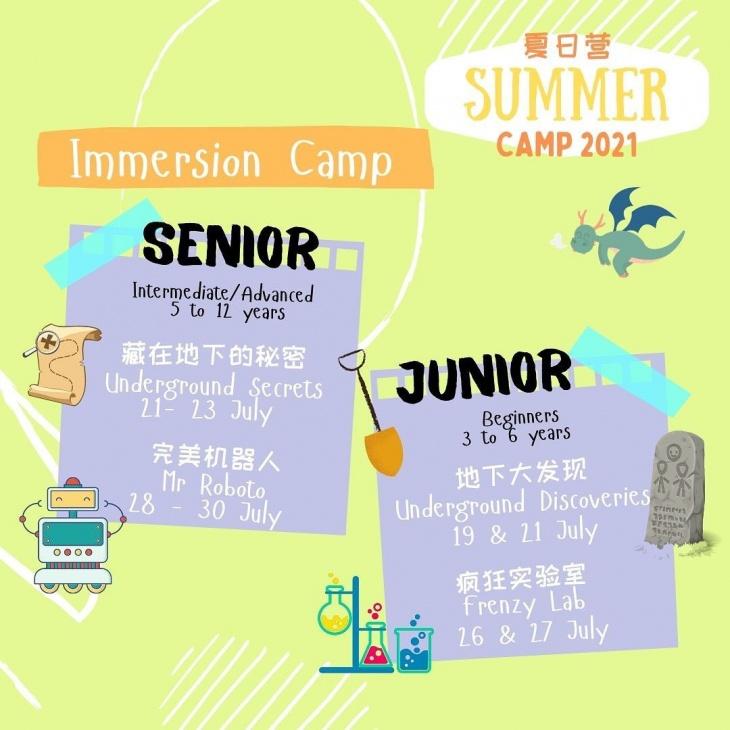 Summer Mandarin Immersion Camp 2021