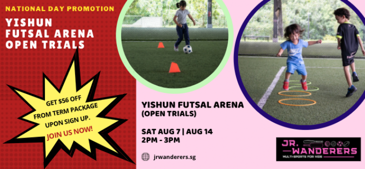 JR. Wanderers: National Day Offers for Multi-Sports Programme & Open Trials