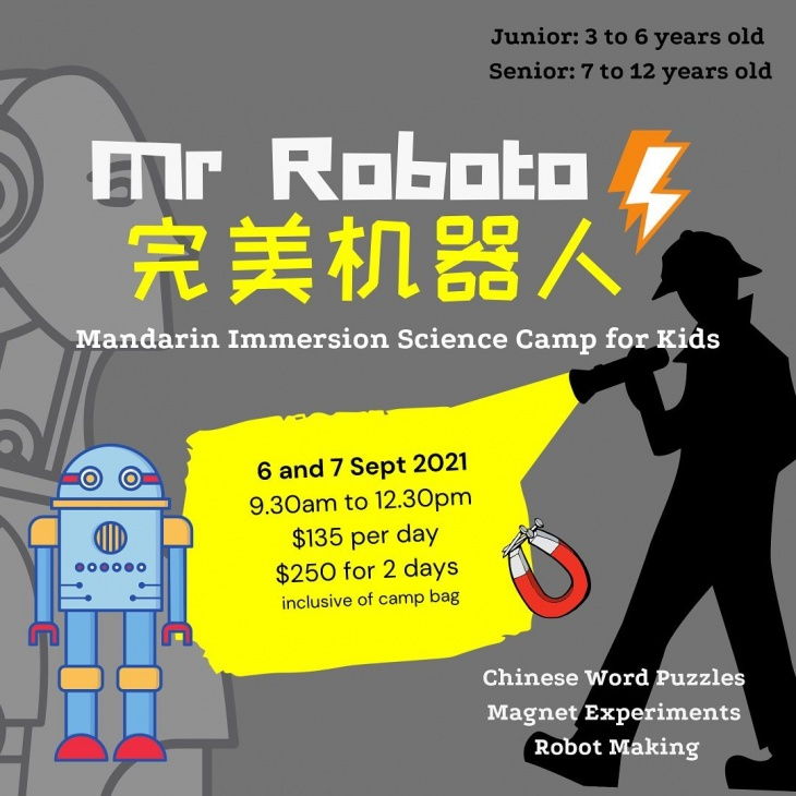 Mandarin Immersion Science Camp: Mr Roboto