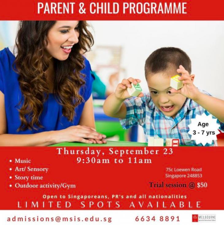 Parent & Child Programme @Melbourne Specialist International School (MSIS)